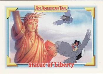1991 Impel An American Tail Fievel Goes West #134 Statue of Liberty Front