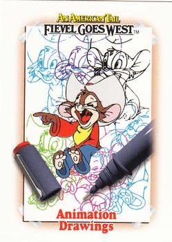 1991 Impel An American Tail Fievel Goes West #140 Animation Drawings Front