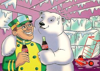 1996 Collect-A-Card Coca-Cola Polar Bears #6 Keeping Cool Front