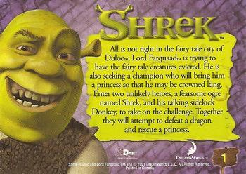 2001 Dart Shrek Non Sport Gallery Trading Card Database