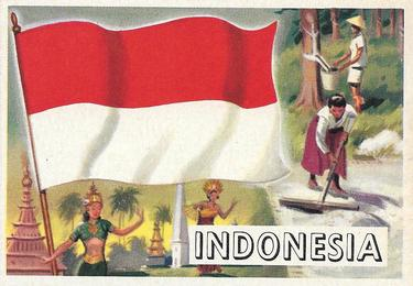 1956 Topps Flags of the World #20 Indonesia Front