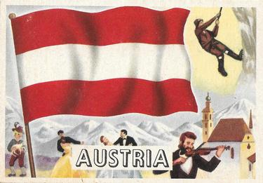 1956 Topps Flags of the World (R714-5) #24 Austria Front