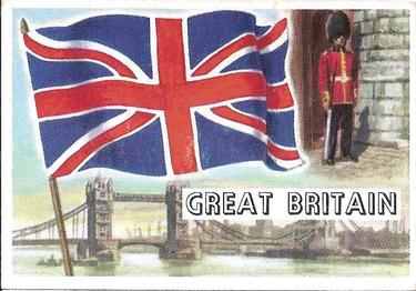 1956 Topps Flags of the World #26 Great Britain Front