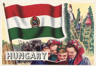 1956 Topps Flags of the World #38 Hungary Front