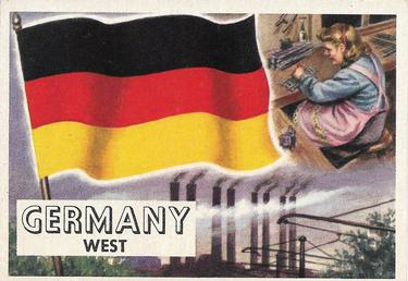 1956 Topps Flags of the World #55 West Germany Front