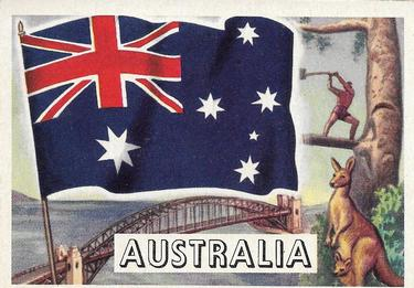 1956 Topps Flags of the World #59 Australia Front