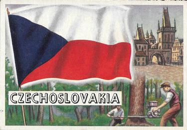 1956 Topps Flags of the World #66 Czechoslovakia Front