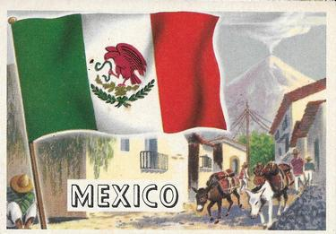 1956 Topps Flags of the World #67 Mexico Front