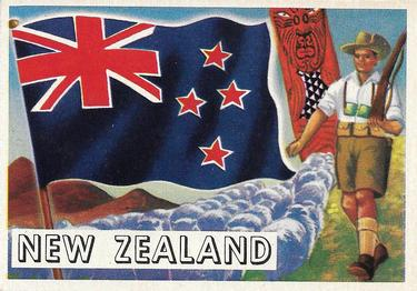 1956 Topps Flags of the World #68 New Zealand Front
