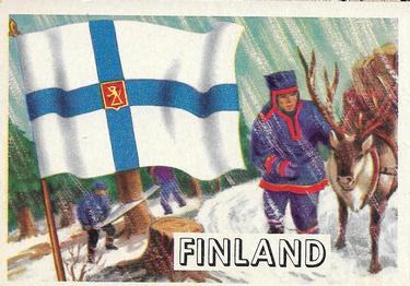 1956 Topps Flags of the World (R714-5) #74 Finland Front