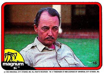 1983 Donruss Magnum PI #16 After Higgins finished his lunch, I said,
