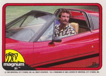 1983 Donruss Magnum P.I. #25 (in driver's seat) Front