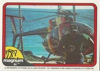 1983 Donruss Magnum PI #27 (T.C. running from helicopter) Front