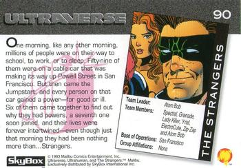 1993 SkyBox Ultraverse #90 The Strangers Back
