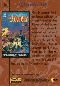 1994 Fleer Ultraverse Master #16 Deathwish Back