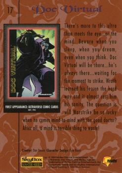 1994 Fleer Ultraverse Master #17 Doc Virtual Back