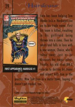 1994 Fleer Ultraverse Master #29 Hardcase Back
