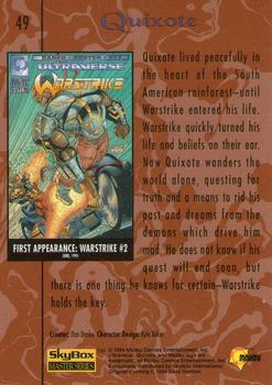 1994 Fleer Ultraverse Master #49 Quixote Back