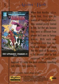 1994 Fleer Ultraverse Master #5 Atom Bob Back