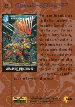 1994 Fleer Ultraverse Master #88 Break-Thru II Back