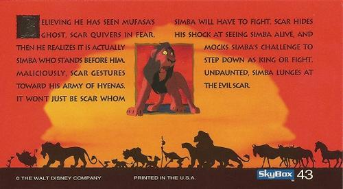 1994 skybox the lion king widevision non-sport