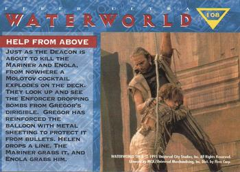 1995 Fleer Waterworld Movie #108 Help from Above Back