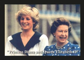 1997 Trading Cards International Princess Diana: Queen of Hearts #40 Princess Diana and Queen Elizabeth II Front