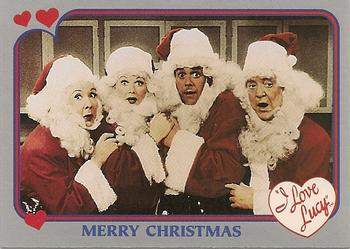 1991 pacific i love lucy 3 merry christmas front - I Love Lucy Christmas