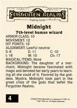 1991 TSR Advanced Dungeons & Dragons - Silver #4 Midnight Back