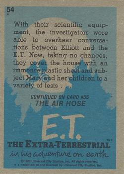 1982 Topps E.T. The Extraterrestrial #54 Sterilizing the House Back
