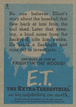 1982 Topps E.T. The Extraterrestrial #5 Elliott's Search Back