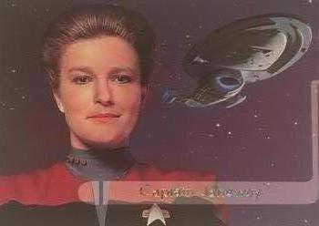 Image result for star trek cards voyager janeway skybox