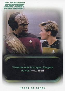 2005 Rittenhouse The Quotable Star Trek The Next Generation #98 Heart of Glory Front