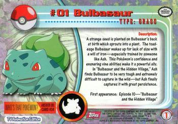 bulbasaur pokemon card
