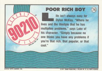Poor Rich Boy #74 Beverly Hills 90210 Topps 1991 Trading Card