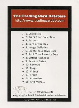 2013 The Trading Card Database #NNO Features & Contacts Card Back