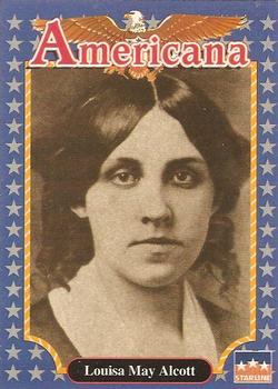 1990 Starline Americana #100 Louisa May Alcott Front
