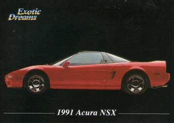 1992 All Sports Marketing Exotic Dreams #6 1991 Acura NSX Front