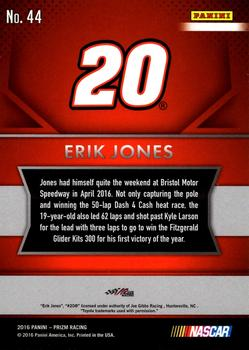 2016 Panini Prizm #44 Erik Jones Back