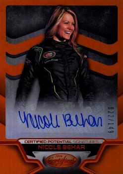 2016 Panini Certified - Certified Potential Signatures Mirror Orange #CP-NB Nicole Behar Front