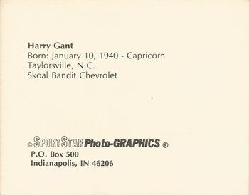 1986 Sportstar Photo-Graphics Racing #NNO Harry Gant Back