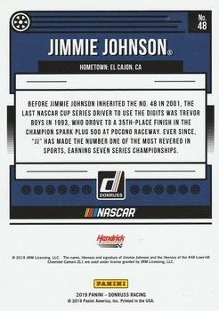 2019 Donruss #48 Jimmie Johnson Back
