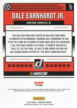 2019 Donruss #72 Dale Earnhardt Jr. Back