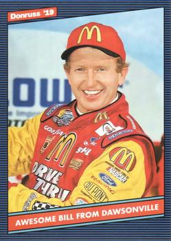 2019 Donruss #157 Bill Elliott Front
