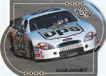 2001 Press Pass Trackside - Die Cuts #49 Dale Jarrett's Car Front