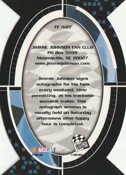 2002 Press Pass Optima - Fan Favorite #FF11 Jimmie Johnson Back