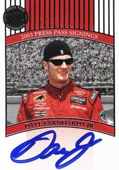 2003 Press Pass - Signings #NNO Dale Earnhardt Jr. Front