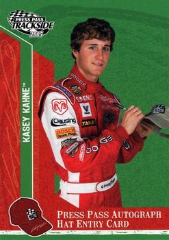 2005 Press Pass Trackside - Press Pass Autograph Hat Entry Card #PPH13 Kasey Kahne Front