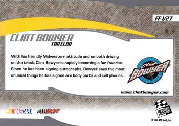 2006 Press Pass Optima - Fan Favorite #FF1 Clint Bowyer Back