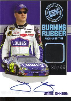 2007 Press Pass - Burning Rubber Autographs #BRSJJ Jimmie Johnson Front